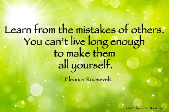 eleanor Roosevelt quote on mistakes