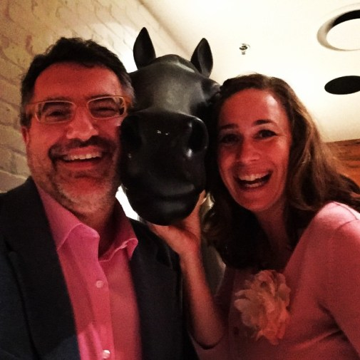 """Donny and I """"horsing around"""" at a recent media event at Earl's Restaurants."""