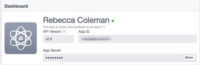 app id and app secret in Facebook