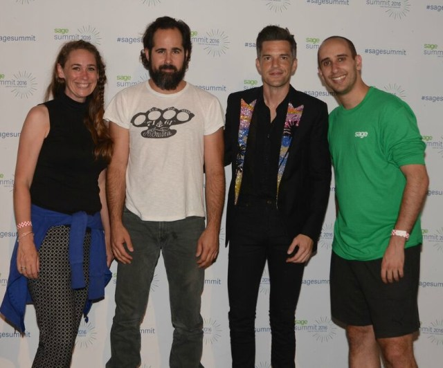 Oh, you know, just hanging out with The Killers. NBD.