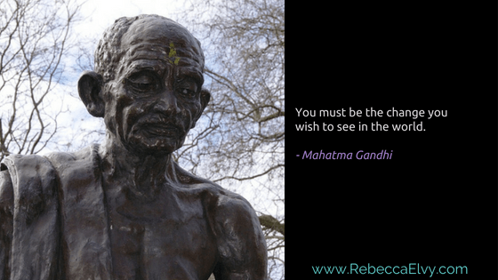 Gandhi Embracing Change