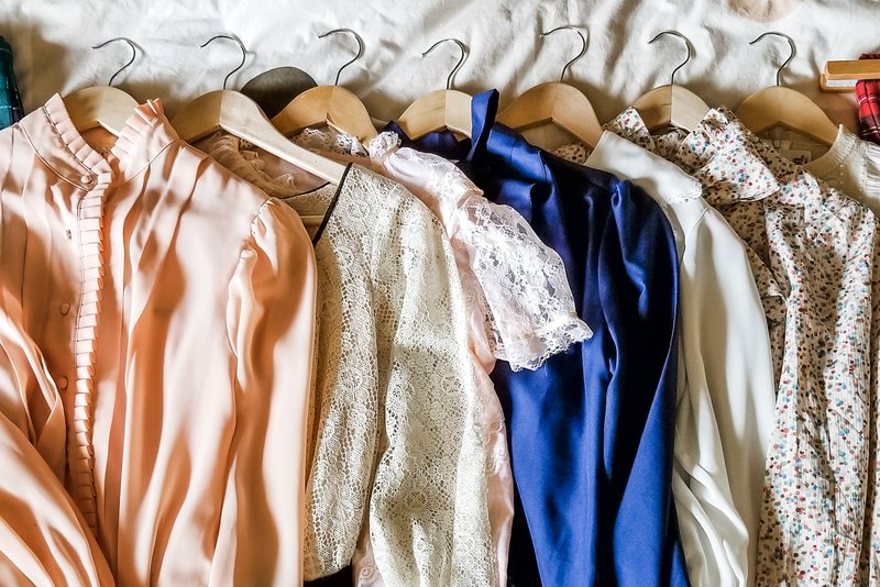 """An image of some of my vintage clothing buys from the shops listed in the """"5 Vintage Boutiques I Love"""" blog post."""