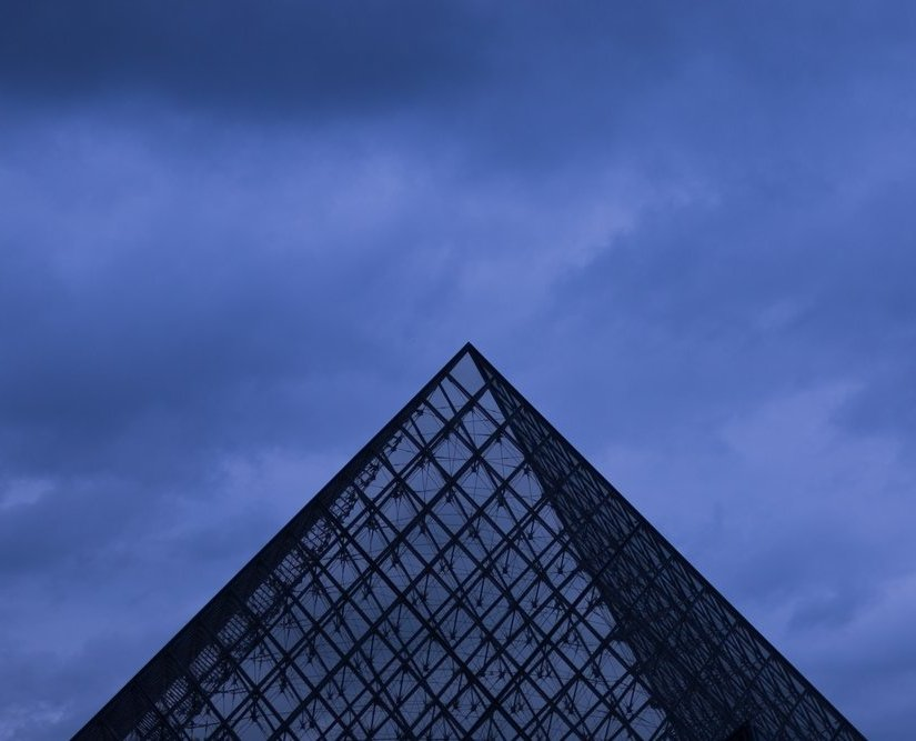 Photo of the Louvre