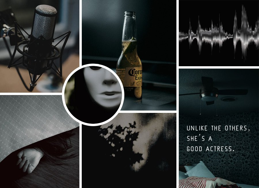 """Moodboard for """"The Phantom of the Podcast"""""""
