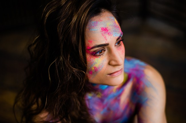 avant garde colourful makeup