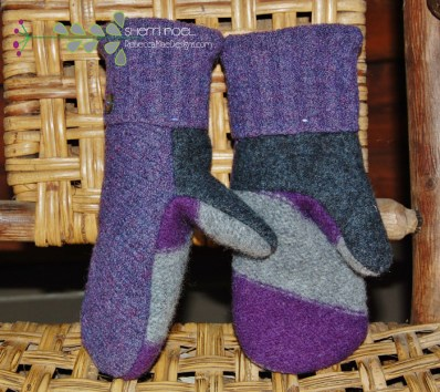 felted wool mittens from sweaters