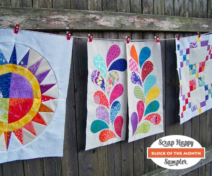 Scrap Happy Sampler Quilt Pattern