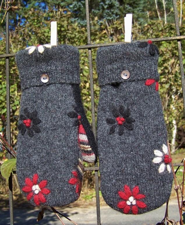 Madawaska Mittens from wool sweaters