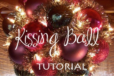 how to make a kissing ball tutorial