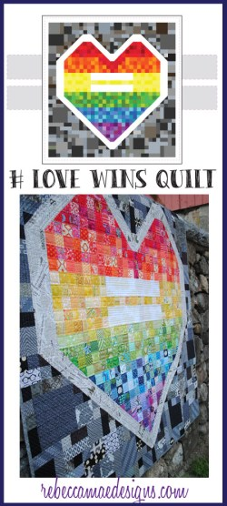 # love wins quilt pattern