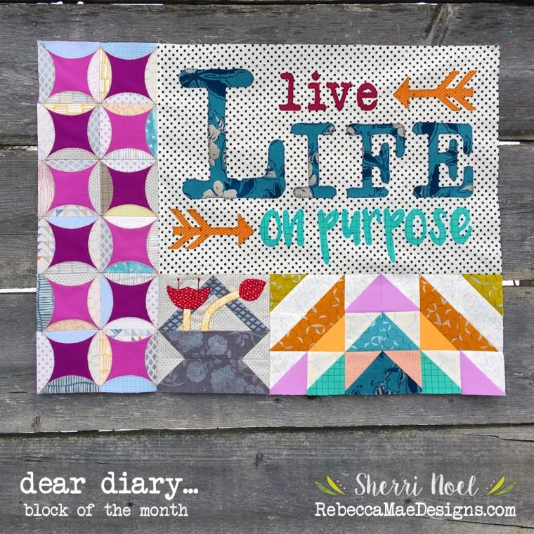 dear diary quilt, chapter 2 by sherri noel rebeccamaedesigns.com