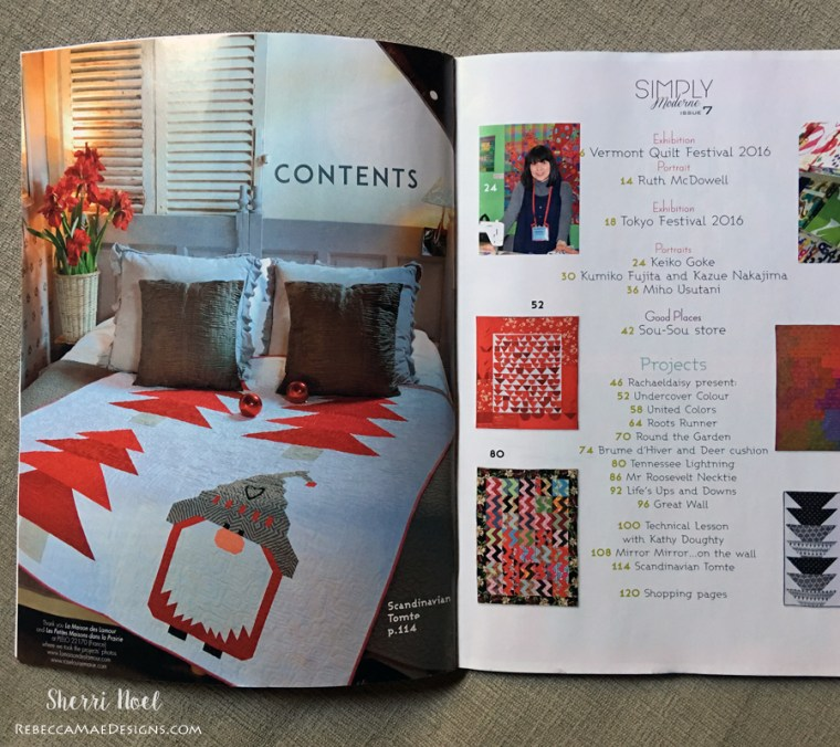 Christmas Quilt Pattern Simply Modern magazine 7