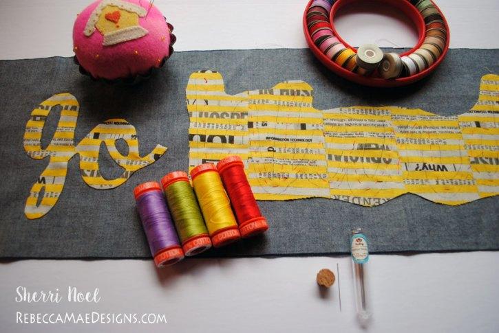 applique needle and thread