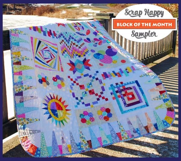 scrap happy bom sampler quilt