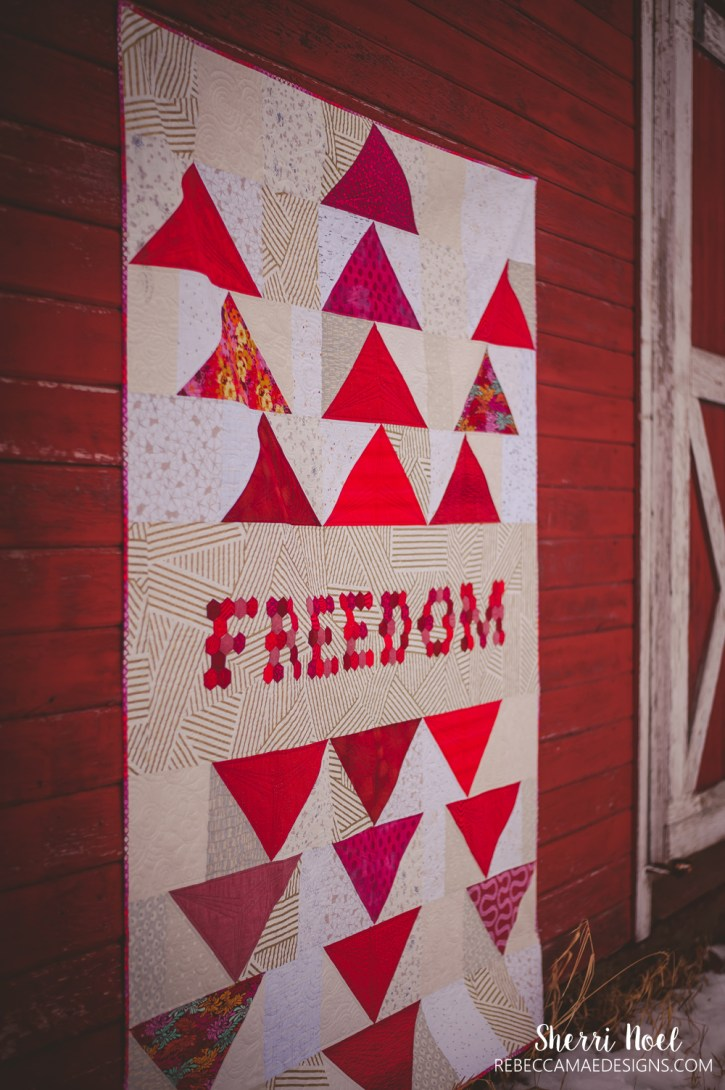 FREEDOM QUILT from Text It quilt book by Sherri Noel rebeccamaedesigns.com