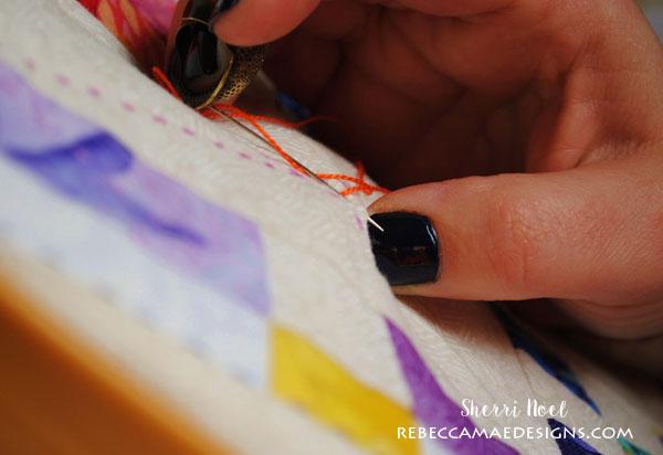hand quilting big stitch tutorial