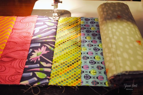 quilt as you go tutorial sitch and flip method