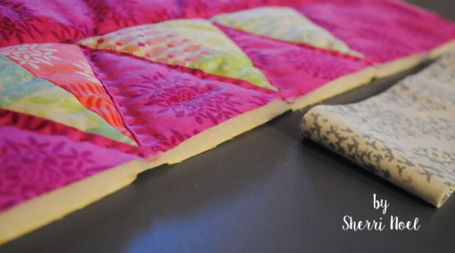 hand quilting with perle cotton