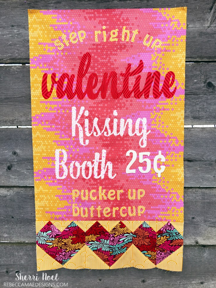 Valentines Day Wall Hanging - Text It! Quilt Book by Sherri Noel, RebeccaMaeDesigns.com