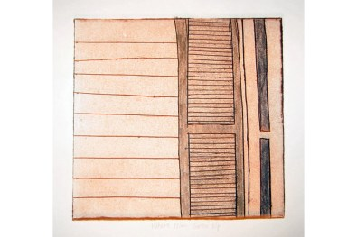 Geographic Geneology, Webster House 1 collagraph 8 x 8 2007