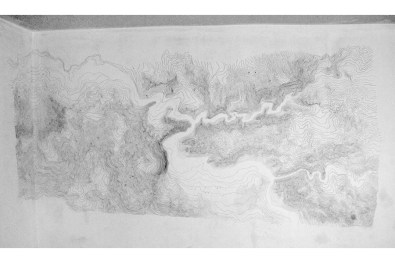 Imagined Topographies, Wall Drawing, 2007