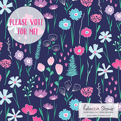 Botanical Sketchbook by Rebecca Stoner for Spoonflower's Fabric8 Contest