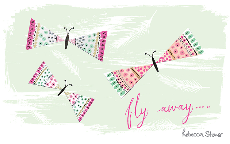 Fly Away by Rebecca Stoner, taken from my  2016 Illustrated Calendar