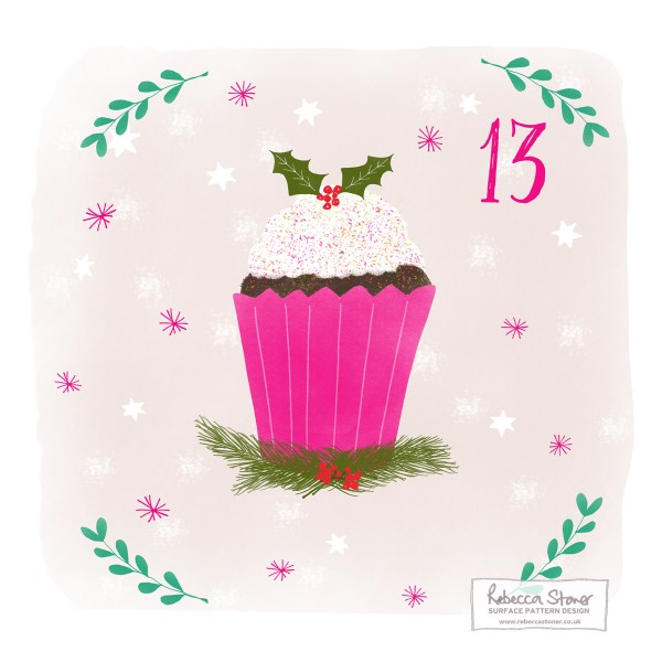Illustrated Advent Day 13  by Rebecca Stoner