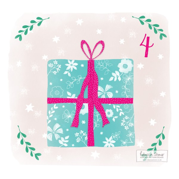 Illustrated Advent Day 4 by Rebecca Stoner