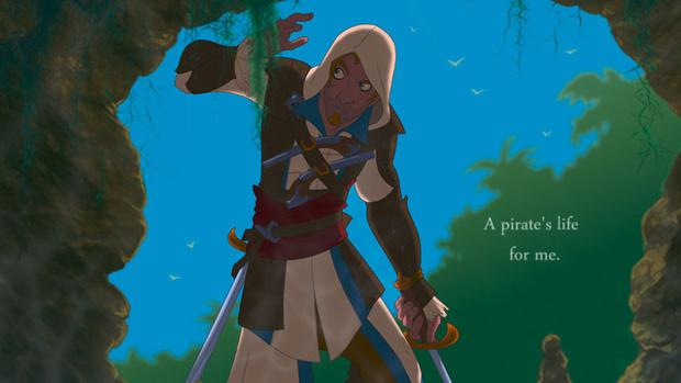 Assassins Creed IV Disney Cartoon klein
