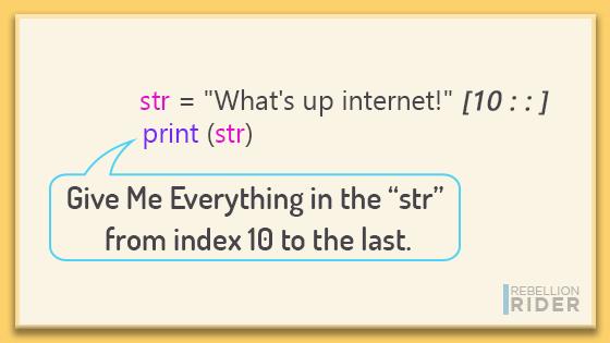 Python Slice Operator - Example 1