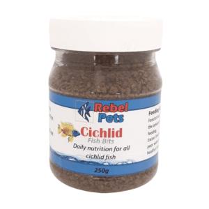 Rebel Pets Cichlid Fish Bits - 250ml