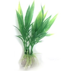 PP033B Plastic Plant Long Leaf Bush 75 mm at Rebel Pets