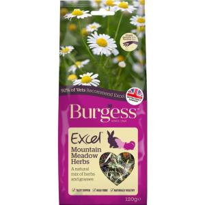 Burgess Excel Mountain Meadow Herbs 120g at Rebel Pets