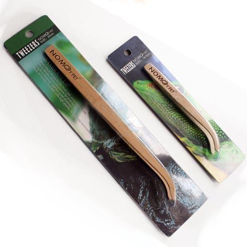 0006658_np bamboo angled reptile feeding long-tongs at Rebel Pets