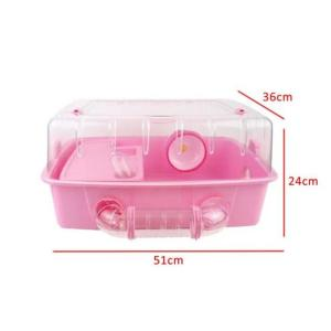 CARNO Hamster Cage with Accessories (51cm X 36cm X 24cm) Pink at Rebel Pets