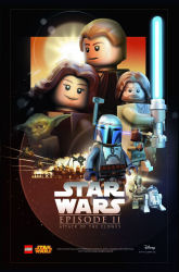 Star Wars Celebration 2015 exclusive LEGO Attack of the Clones poster