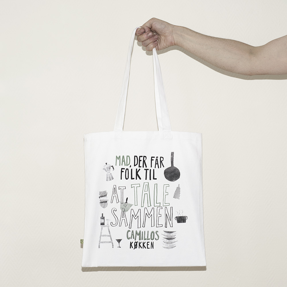 custom organic cotton bags for camillos kitchen Berlin