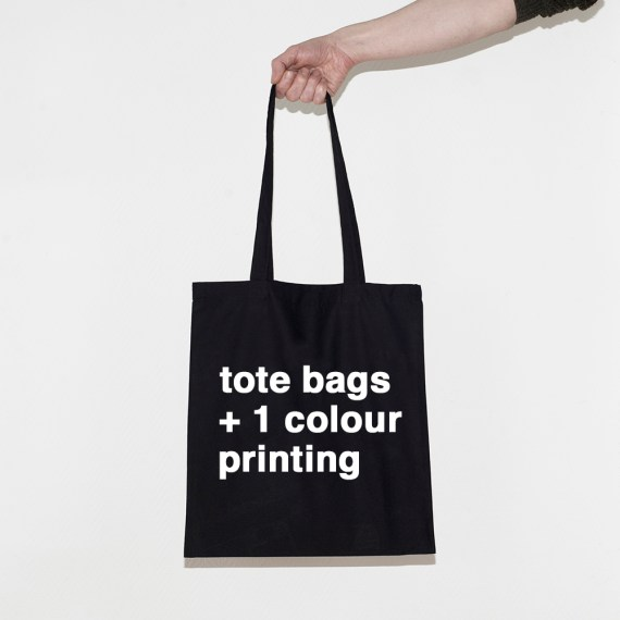 tote bags with one colour printing