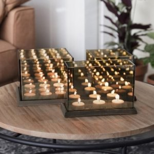 tealight illusion infinity mirror