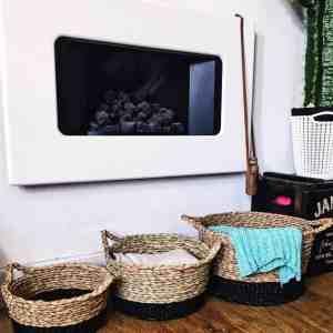 straw storage baskets