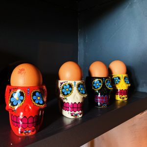 Mexican Skull Egg Cups