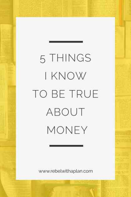 money truths money management