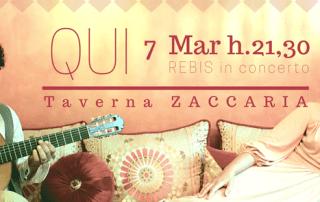 Rebis in concerto alla Taverna Zaccaria, Piazza San Cosimo e Damiano, Genova.