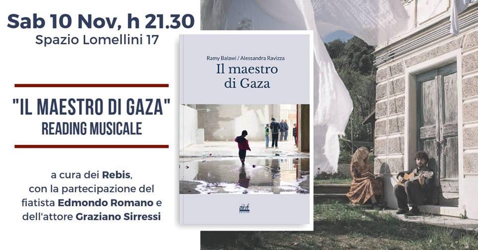 Sabato 10 novembre: Il Maestro di Gaza @SPAZIO LOMELLINI