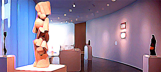 sculptures on plinths at the Hirshhorn