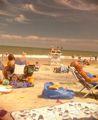 crowded beach, Maryland