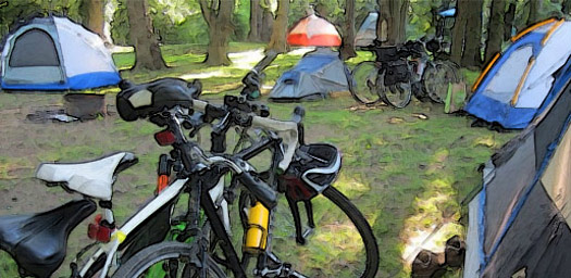 bike camp near Harper's Ferry
