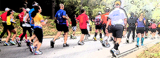 runners in the Marine Corps Marathon