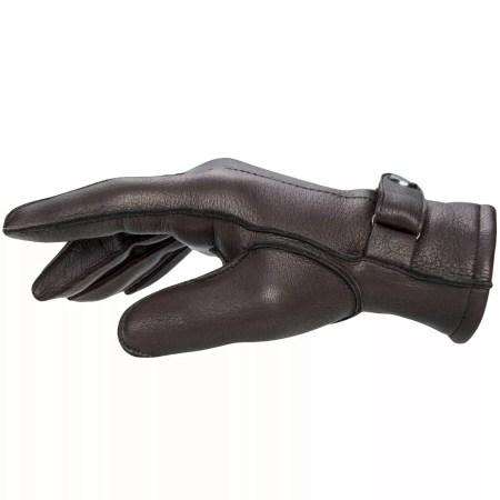 Pearlwood Handschuh Henry Hirschleder dunkelbraun Seitenansicht